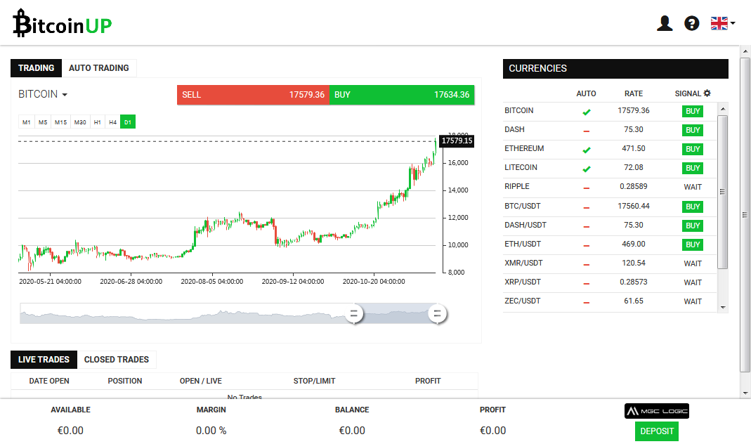 Bitcoin UP Screenshot